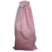 Sac a Couches impermeable Rose à pois blancs MundoBombis